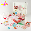 New type wooden toy doctor kit for kids,Educational DIY doctor play set toy,Role play toys doctor play set on sale W10D011