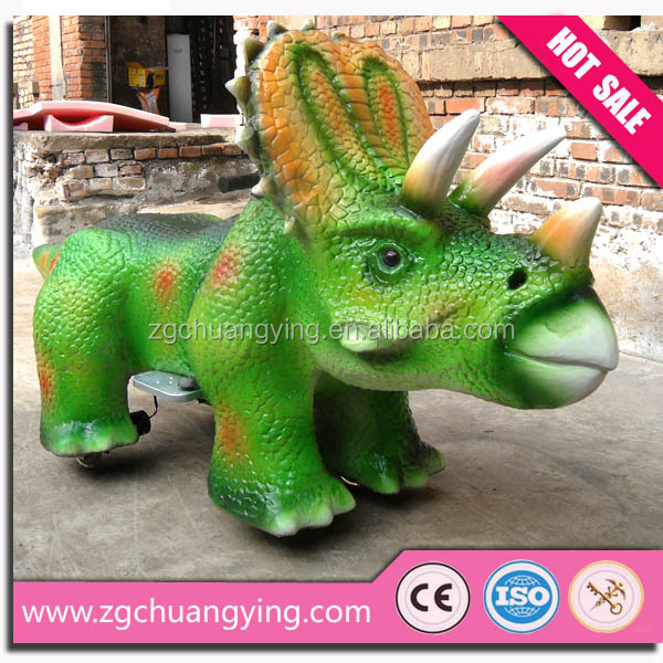 Shopping center coin operated animal dinosaur mounts Ride On Animal Toy
