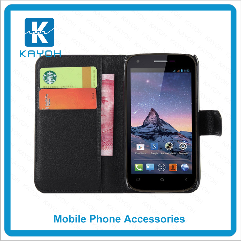 [kayoh]china supplier filp case Fashion New PU Leather Flip Cover Mobile Cell Phone Bags Cases for Wiko Cink Peax