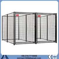 Chain Link or galvanized comfortable dog soft crate