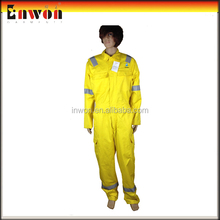 Polyester Cotton Reflective Yellow Boiler Suit