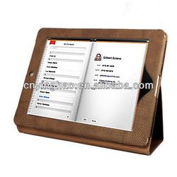Top quality stylish leather smart cover cases for ipad 3