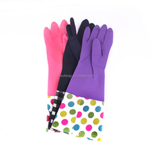 cotton lined rubber gloves/houshold glove/red latex gloves
