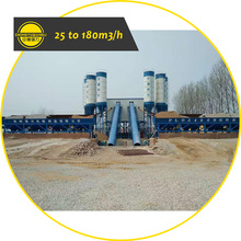 25 to 180 M3 Factory Price Small Mini Compact Cement Ready Mix Concrete Batching Plant