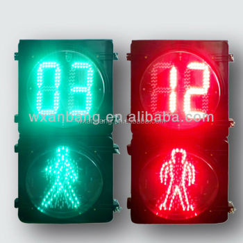 new traffic signs 300mm dynamic pedestrian light (Up countdown, down man)