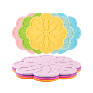 Custom cute silicon placemat simple design silicone cup coaster