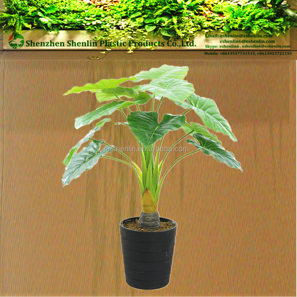 indoor Dripping Guanyin alocasia Artificial plants water lotus arum house artificial plant