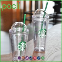 20 oz plastic clear cup with lid