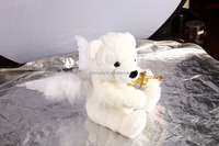 white angel bear with violin