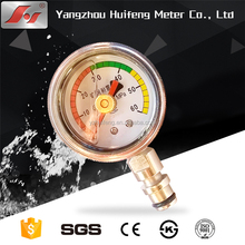 rugged one piece forged brass case and socket connection stainless steel glycerin filled Mining Pressure Gauge