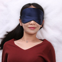 Luxury Sleep Mask, nature silk eye mask, blue face mask for sleeping