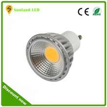 Trade assurance gu 10 cob spotlight gu10 led lamp dimmable 5w 6w 7w