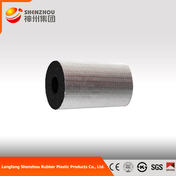 elastomeric Cold and heat resistant material NBR PVC thermal insulation rubber foam tube with aluminum foil