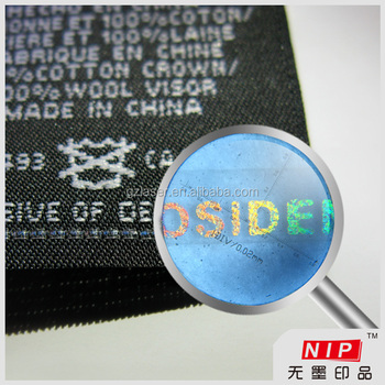 Security tear tape knitted into clothing labels in china