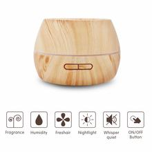 300ml Electric Fragrance Aromatherapy Essential Oil Diffuser Portable Ultrasonic Humidifier with Settable Timer