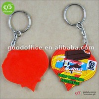 Hot promotional items heart shaped pvc keyring keychain