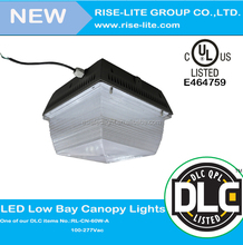 meanwell driver underground garage led canopy light DLC 5 years warranty