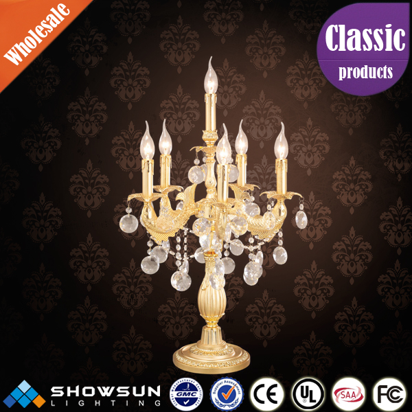 New design wedding table candle brass candelabras