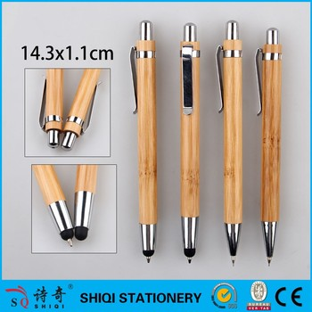 bamboo pen,metal clip pen,pen,eco pen,gift pen, popular hotel touch pen