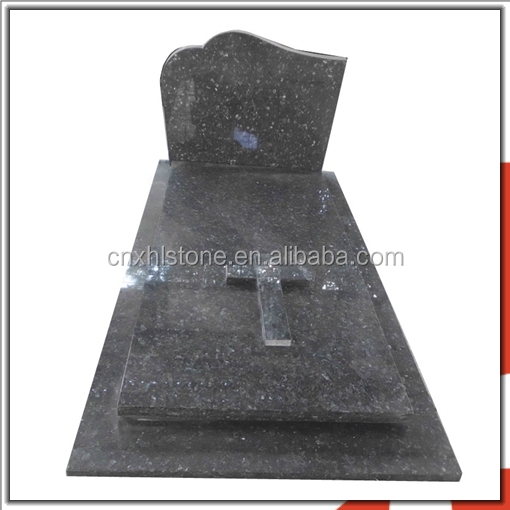 High Quality Blue Pearl Granite Monument Headstone