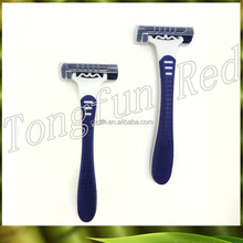 Male Three-blade Shaving Razor plastic disposable razor