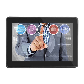 10 inch open frame true flat screen capacitive touch monitor IP66 front waterproof lcd monitor