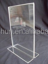 Acrylic menu coaster display stand acrylic menu holder