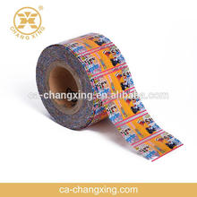 FDA Changxing flexible packaging, PVC, PETG roll film for drink, juice, water bottle packaging