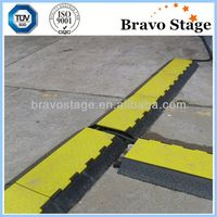 Outdoor events 2 channels rubber cable ramp