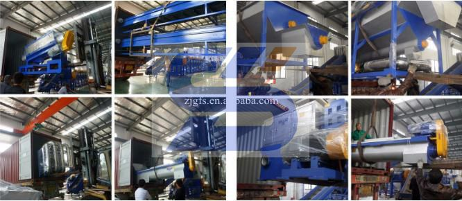 automatic wasted plastic pet hdpe recycling crushing washing machine