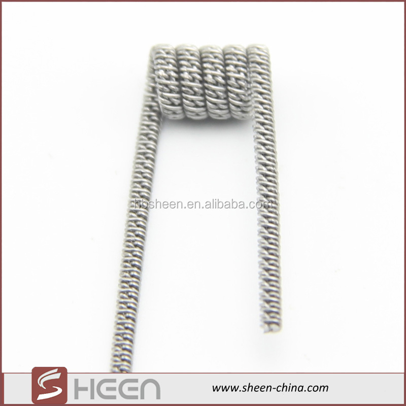 Sheen high quality 0.4 ohm heating wire electric wire resistance prebuilt coils 0Cr25Al5 staggered fused alloy wire