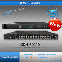 High efficiency digital encoder with 8 AV input interfaces ASI input output and IP output for option