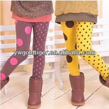 Hot Sale Newest Design tights Spring Polka Dots Baby Clothes Winter Warm Fleece Liner Thick Kids Leggings