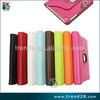 hot selling products rotary stand leather case for ipad mini