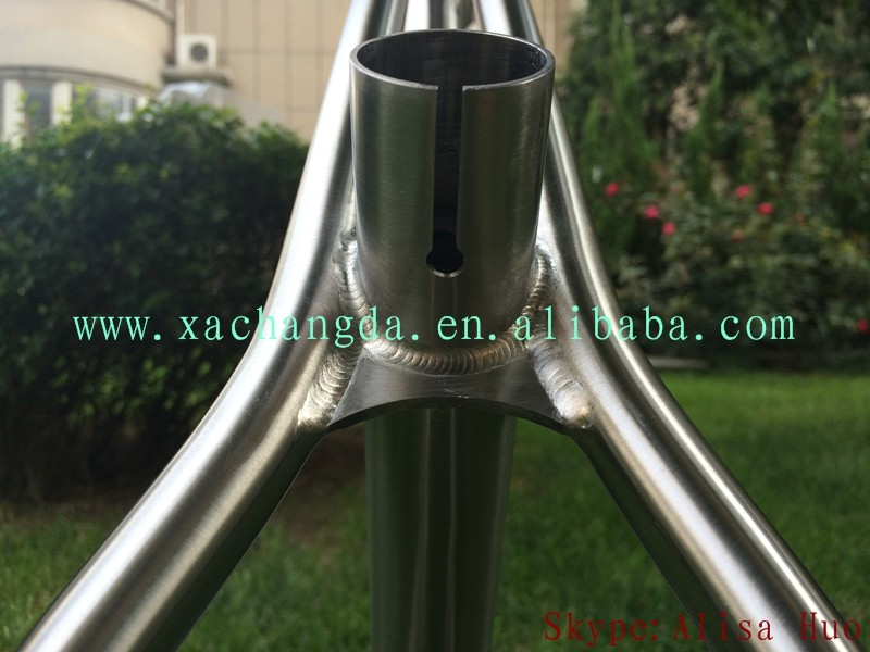 xacd made titanium fat bike frame 29er titanium mtb bike frame taper head tube fat bike frame