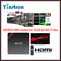 NEXBOX A95X New Chipset S905X Android 6.0 Marshmallow TV Box 1GB 8G 4K Full HD Media Player Kd Fully Loaded TV Streaming Box