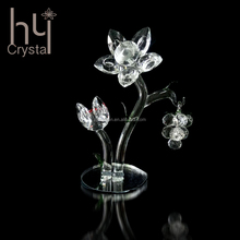 Hot Factory direct sale crystal flower with faceted balls wedding home centerpieces decoration gift guests souvenirs new set