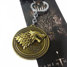 Metal electroplated Game of Thrones <strong>key</strong> chain
