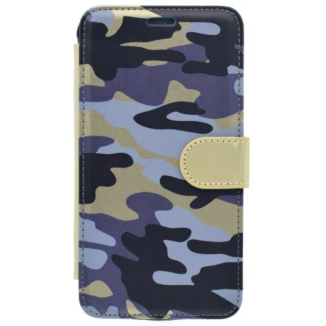 2017 luxury two mobile phones camouflage leather case for iphone 6 magnetic mobile phone case