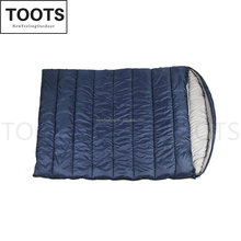 190T Polyester Double Sleeping Bag with 2 Pillows and a Carrying Bag for Camping