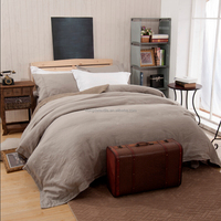 Home and hotel bed linens in 100% flax stone washed fabric