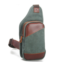 8570 Vintage Design Canvas Men Chest Shoulder Bag