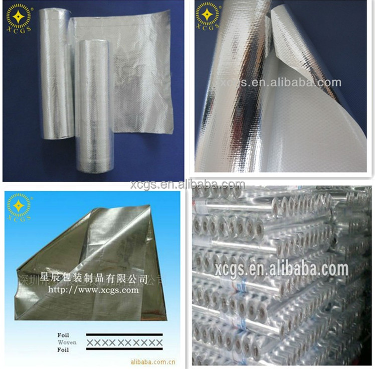 Double/Single Side Aluminum Foil Coated Woven Fabric Roofing/Duct Vapor Barrier/Heat Resistance Insulation