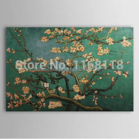 100% Hand-painted Impressionist Oil Painting Branches of an Almond Tree in Blossom Landscape Masterpiece Repro Vincent Van Gogh