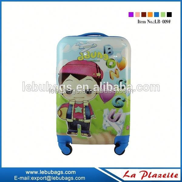 Cute light weight Kids Suitcase With Trolley, popularKids Trolley Hard Case Luggage