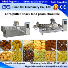 Automatic continuous Extruded Cereal snacks /rusk /bread pan corn puff food making machine /production line
