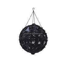 Plastic hanging garden flower ball set/artificial flower pots with chain