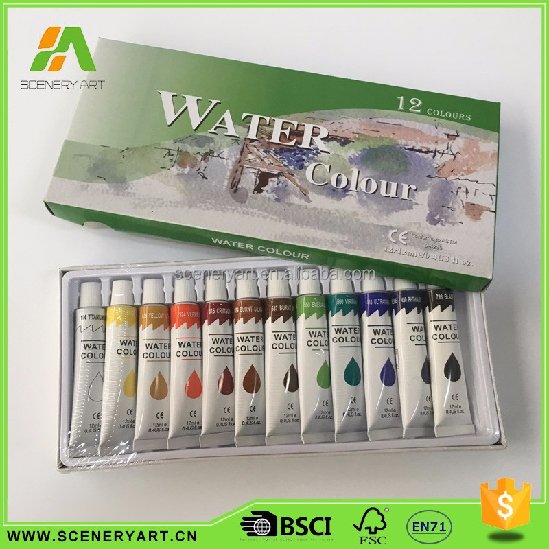 Affordable kids watercolor painting set
