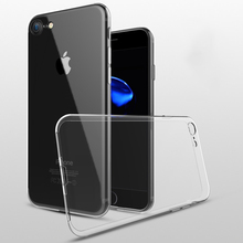 2017 Ultra thin TPU Case for iphone 7 slim case transparent, for apple 7 case back cover clear
