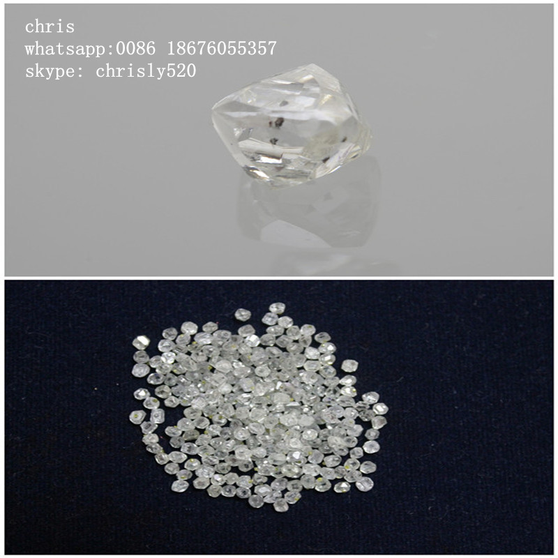 Rough uncut white cvd diamonds